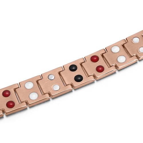 High quality man bio health magnetic titanium therapy bracelet