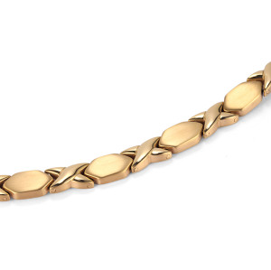 Health women cross pattern reduce pressure magnetic titanium bracelet