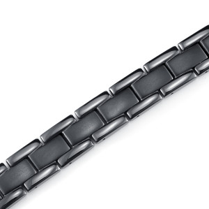 Pure titanium black color reduce blood pressure magnetic bracelet for men