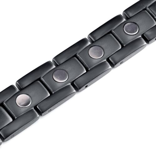 Pure titanium black color reduce blood pressure magnetic bracelet for men