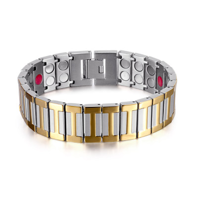 Healthcare men bio energy magnetic therapy stress relief titanium bracelet