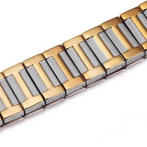 Healthcare men bio energy magnetic therapy stress relief titanium bracelet