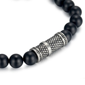 8mm agate beads bracelet with stainless steel accessories