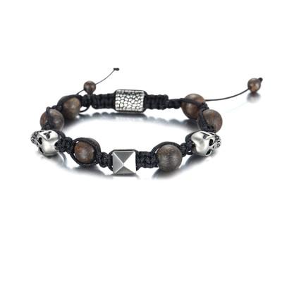 Vente chaude bracelet perles de crâne
