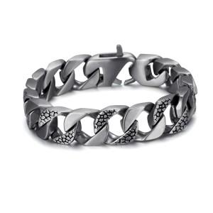Bracelet chaîne cubaine en acier inoxydable 316l