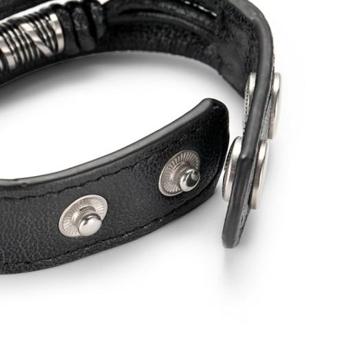 Bracelet accessoire en acier inoxydable de style urbain en cuir