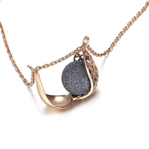 Pendentif de collier de médaillon en acier inoxydable en filigrane en acier inoxydable rose filigrane gris