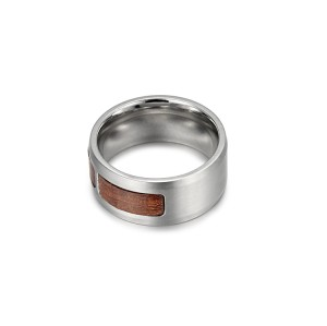 Wood sheet stainless steel ring