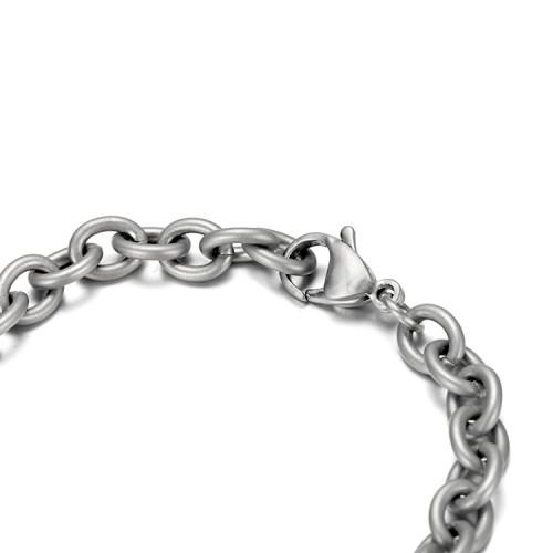 Bracelet en acier inoxydable avec feuille de bois