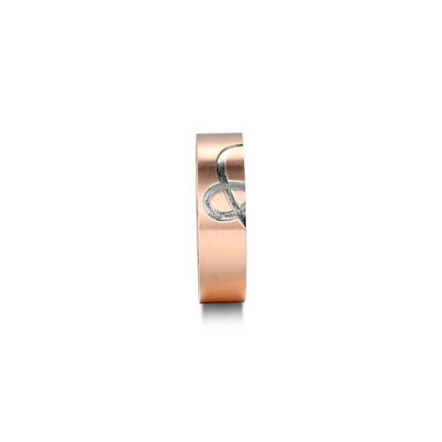 Couple aime l'anneau en acier inoxydable
