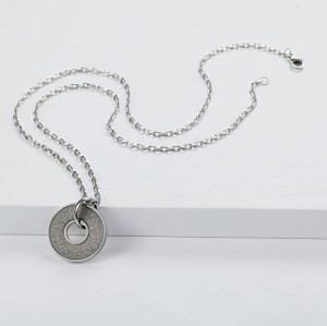 Silver Emery Pendant Necklace