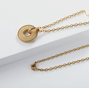 18Kt Gold Plated emery pendant necklace