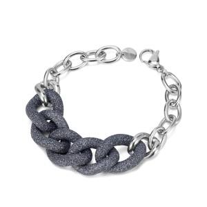 Bracelet en acier inoxydable poussière minérale Bule