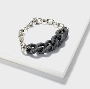 Bule Mineral Dust Stainless Steel Bracelet