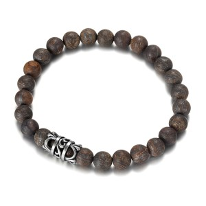 8mm Bronzite Beads Bracelet With Stainless Steel Unique Design Accessories