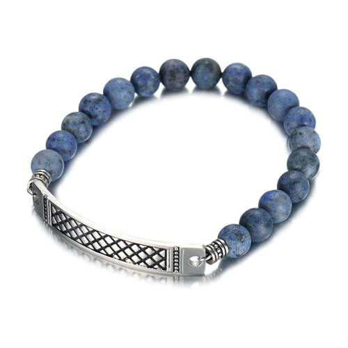 8mm dumortierte bracelet with stainless steel band