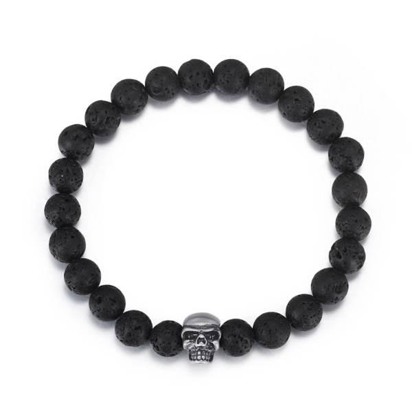 Men's Skull Beaded Bracelet