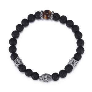 Men's Buddha Beaded Bracelet