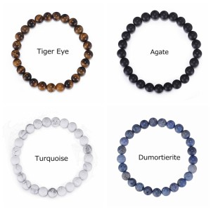 Men's Natural Beaded Bracelet