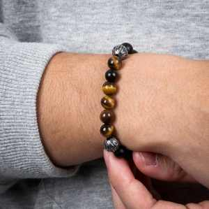 Men's Tiger Eye Beads Bracelet