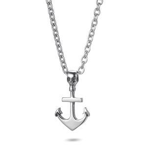 Men's Anchor Skull Necklace