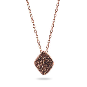 Brown Glitter Necklace
