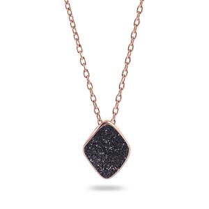 Black Glitter Necklace