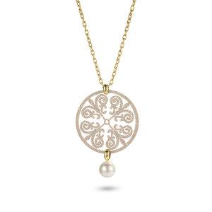 Pattern Pendant Necklace