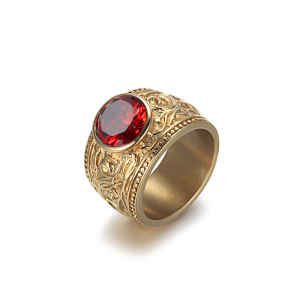 Red Rhinestone Ring