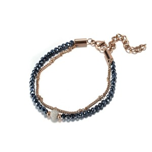 Double-Chain Crystal Bracelet