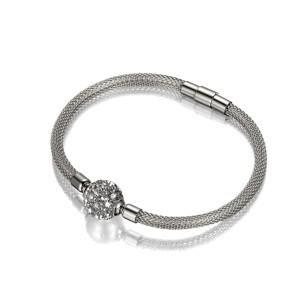 Mesh Chain Crystal Bracelet