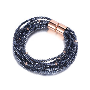 Blue Glass Beads Bracelet