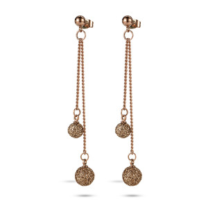 Double Ball Drop Earring