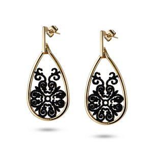Vintage Black Dangle Earrings