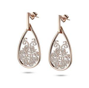Vintage White Dangle Earrings