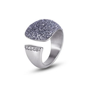 Blue-Gray CZ Ring