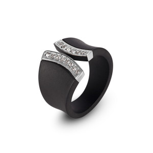 Black CZ Ring