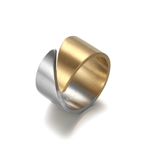 Stainless Steel Silver Gold Plated Ring