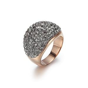 Gray Crystal Band Ring