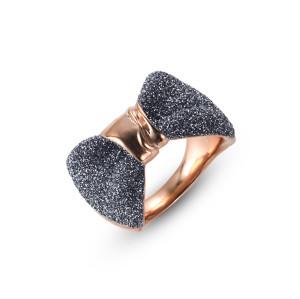Blue-Gray Bow Women Rings