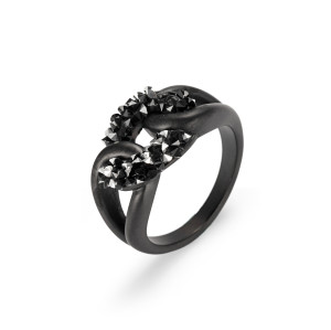 Black Knotted CZ Rings