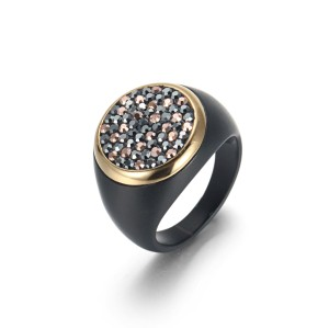 Black CZ Ring