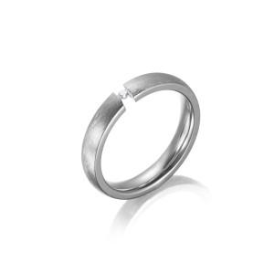 Silver Matt CZ Rings