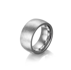 Matt Silver Band Rings