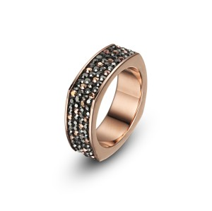 Rose Gold CZ Band Ring