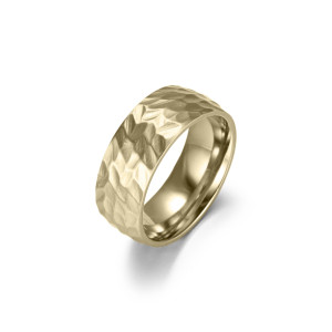 Matte Concave Gold Ring