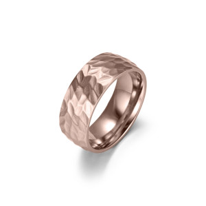 Matte Concave Rose Gold Ring
