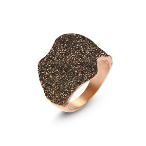Dark Brown Wavy Ring