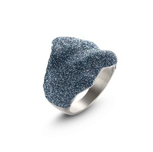 Blue Wavy Ring