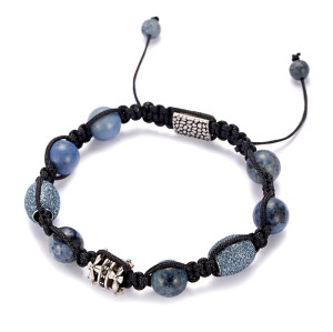 Dumortierite Woven Bracelet